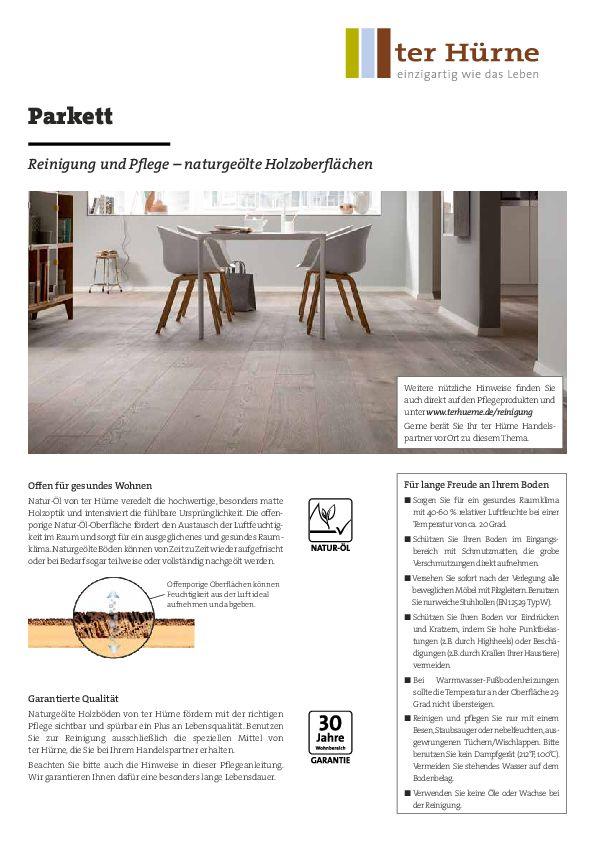 Reinigung und Pflege PDF
