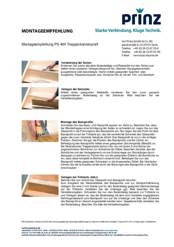 Montageempfehlung PDF 121 KB