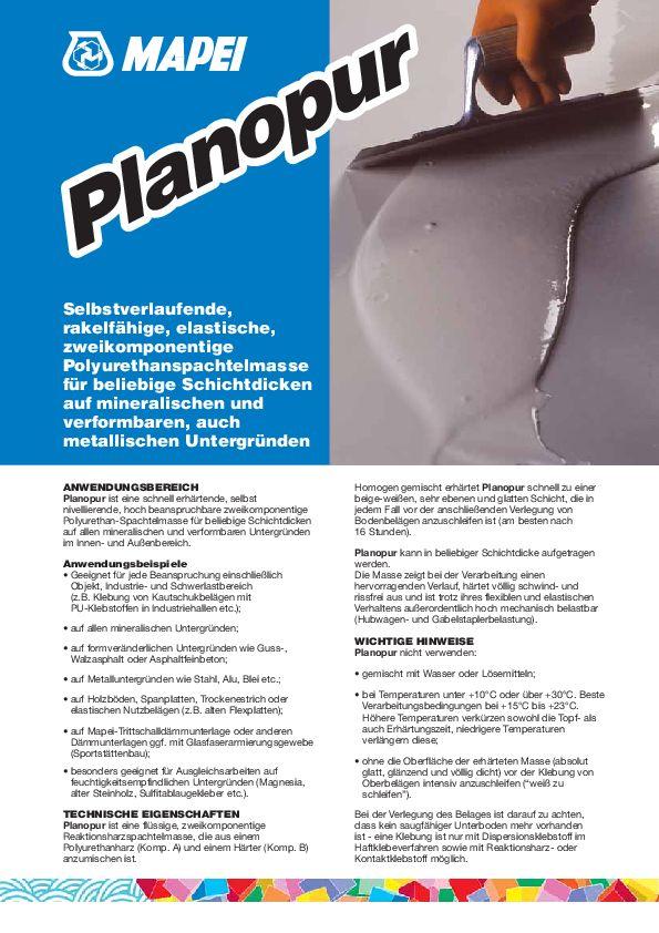 Mapei Planopur 2K Datenblatt