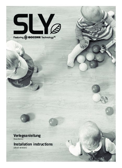 Verlegeanleitung Sly XX-Large
