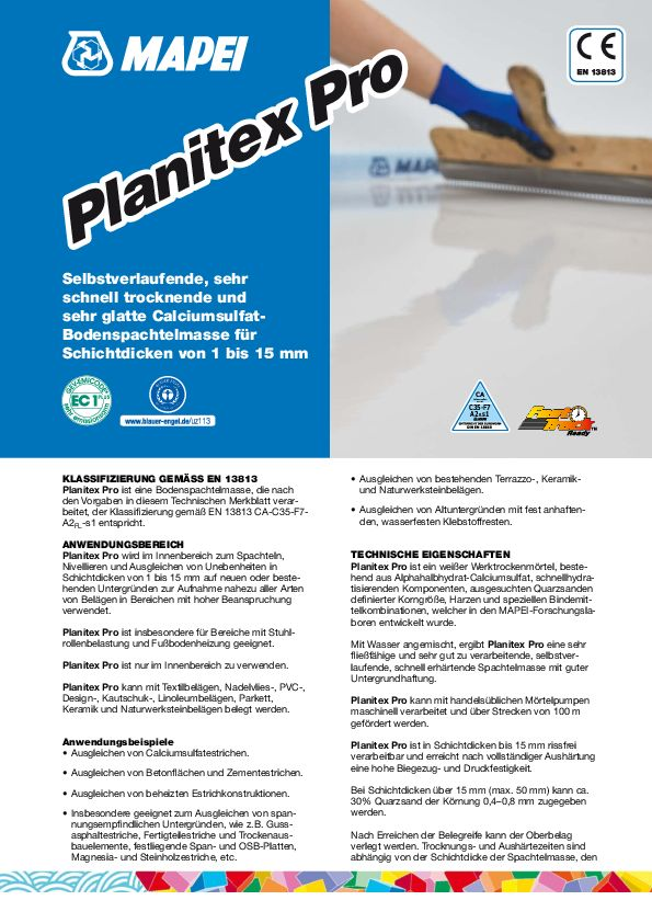 Mapei Planitex Pro Datenblatt
