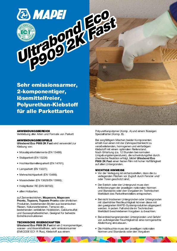 Mapei Ultrabond Eco P909 2K Fast Datemblatt