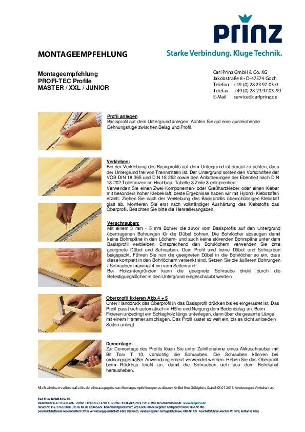 Montageempfehlung PDF 86,3 KB