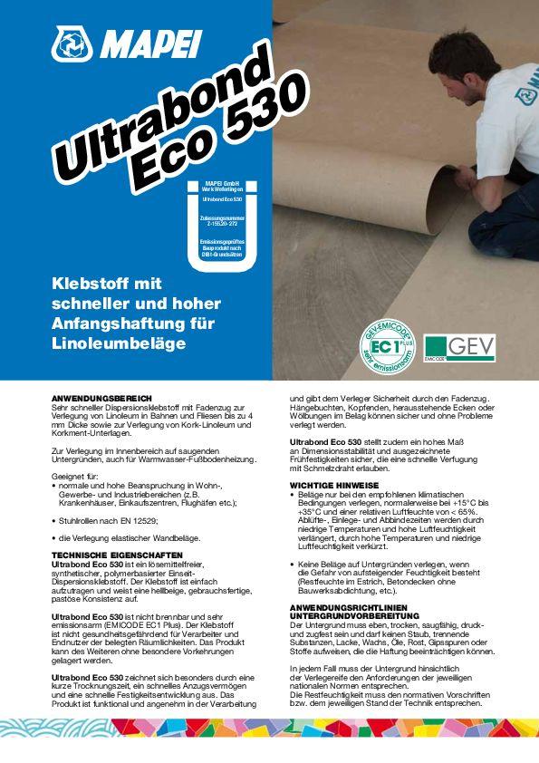 Mapei Ultrabond Eco 530 Datenblatt