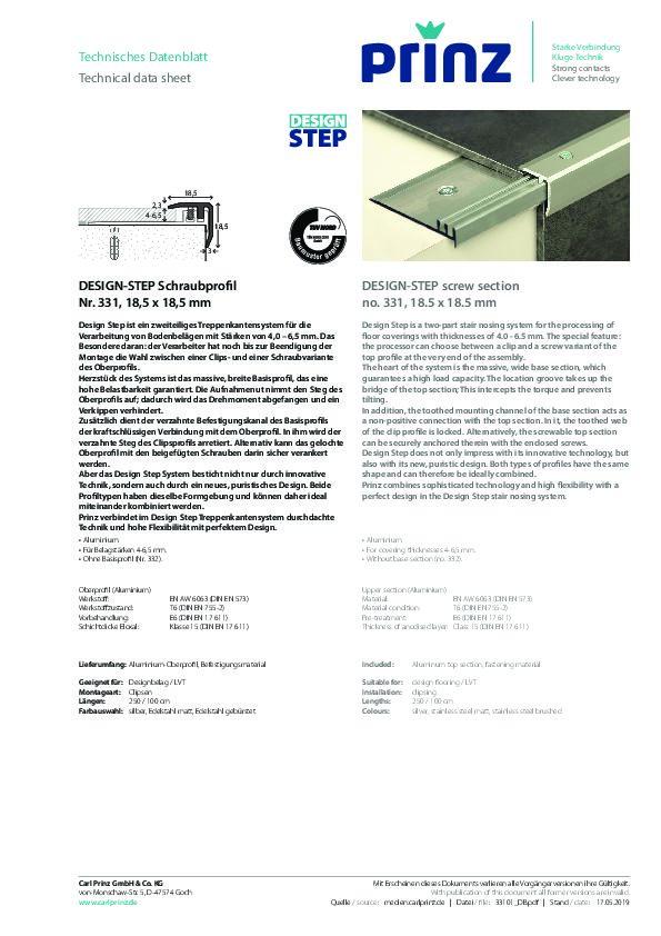 DESIGN-STEP Datenblatt 331 PDF