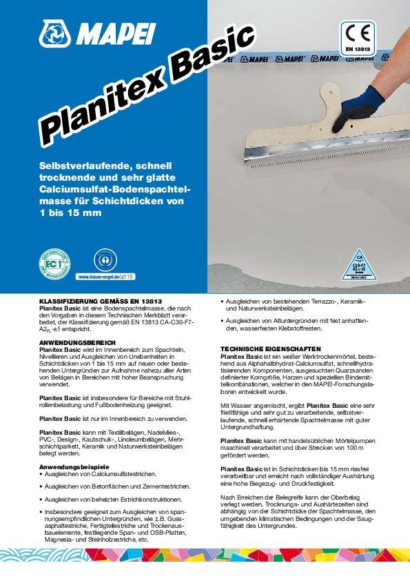 Mapei Planitex Basic Datenblatt