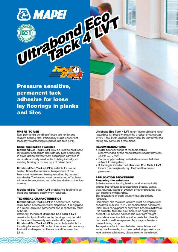 Mapei Ultrabond Eco Tack 4 LVT Datenblatt