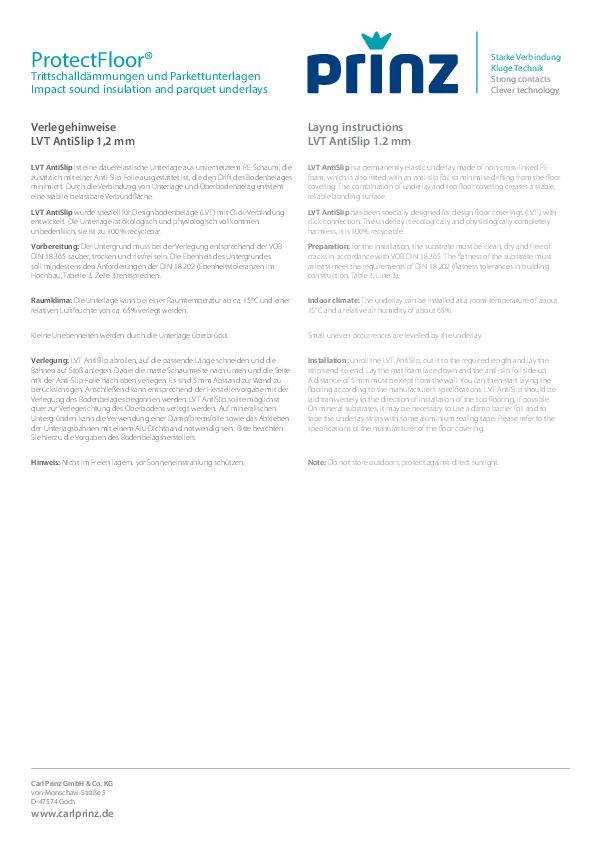 Verlegeempfehlung PDF